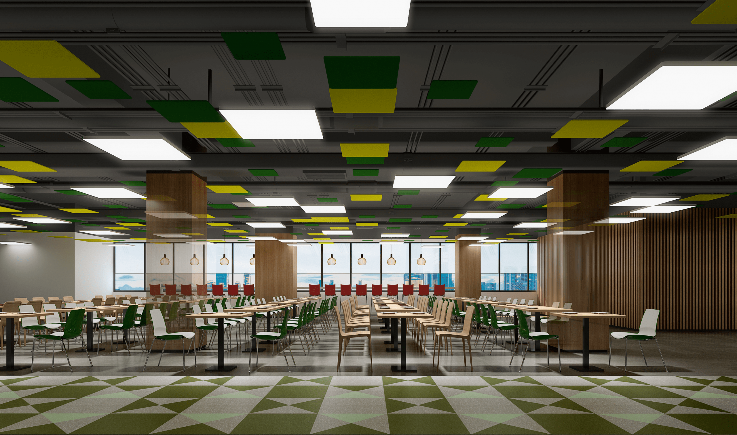No one said that the staff canteen renderings can be designed like this.