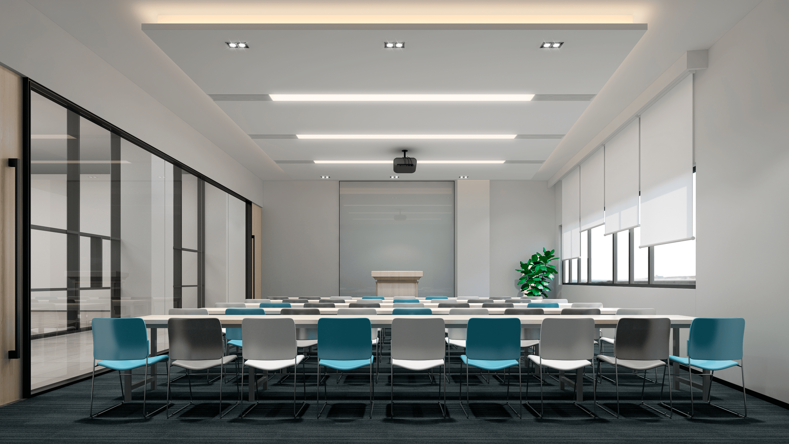 I want to say: The training room renderings you need are like this!
