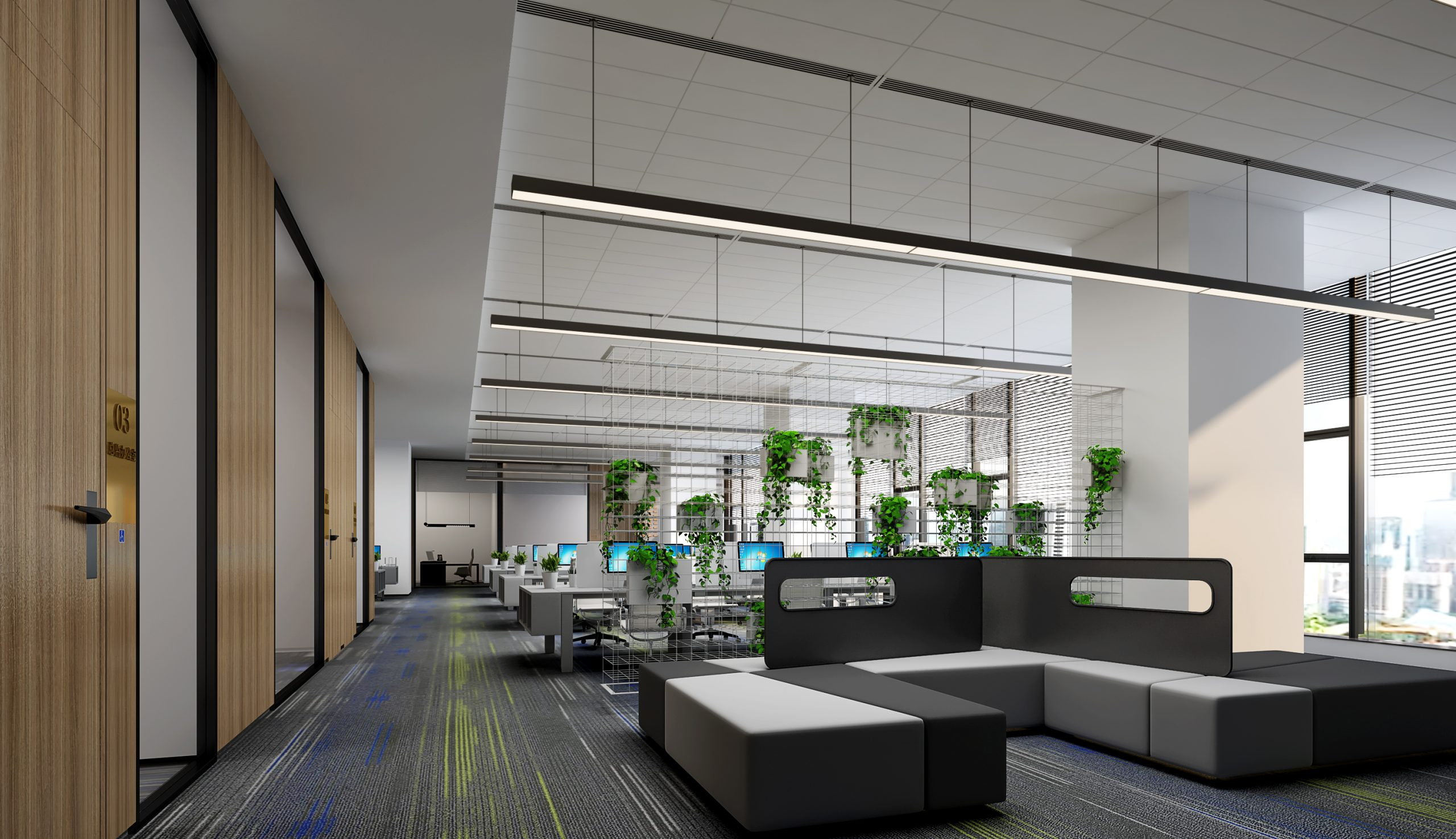Open office renderings:Why are open office renderings the three major advantages of design?