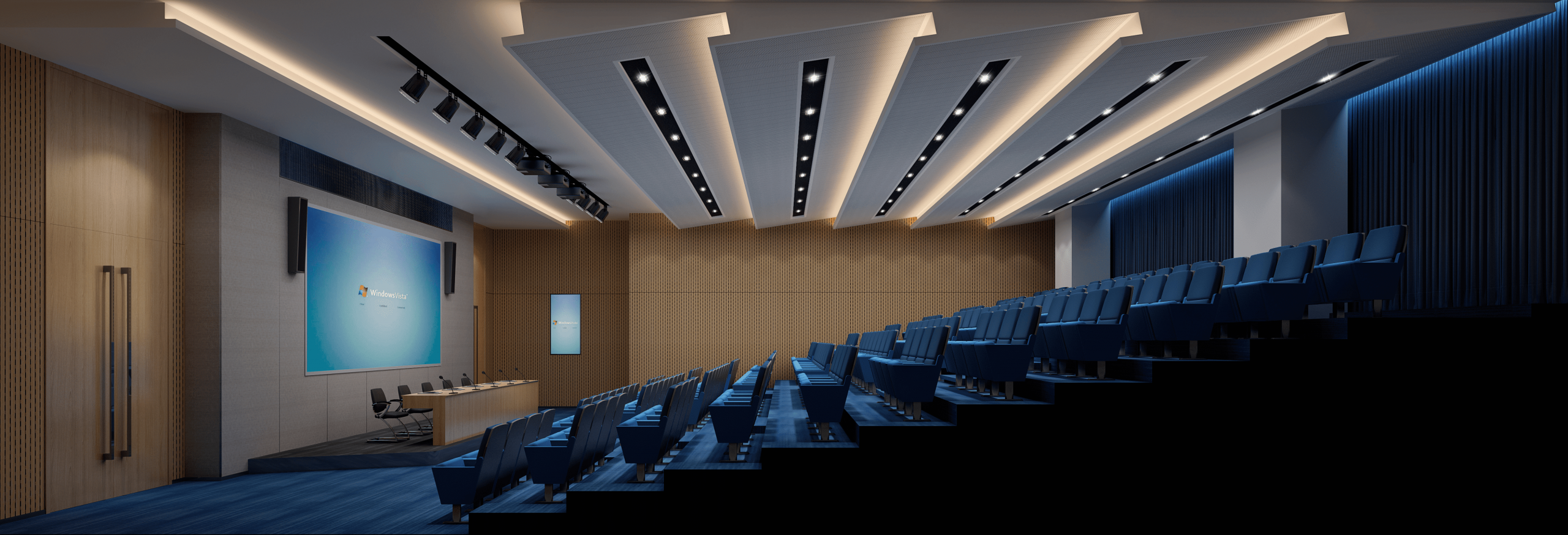 How to find the best perspective in the lecture hall renderings? Secret!