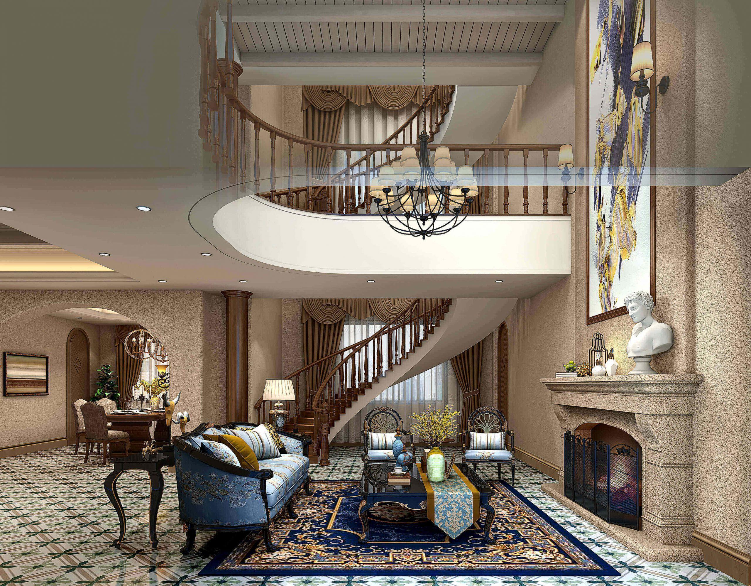 buy 3d interior renderings for American living room