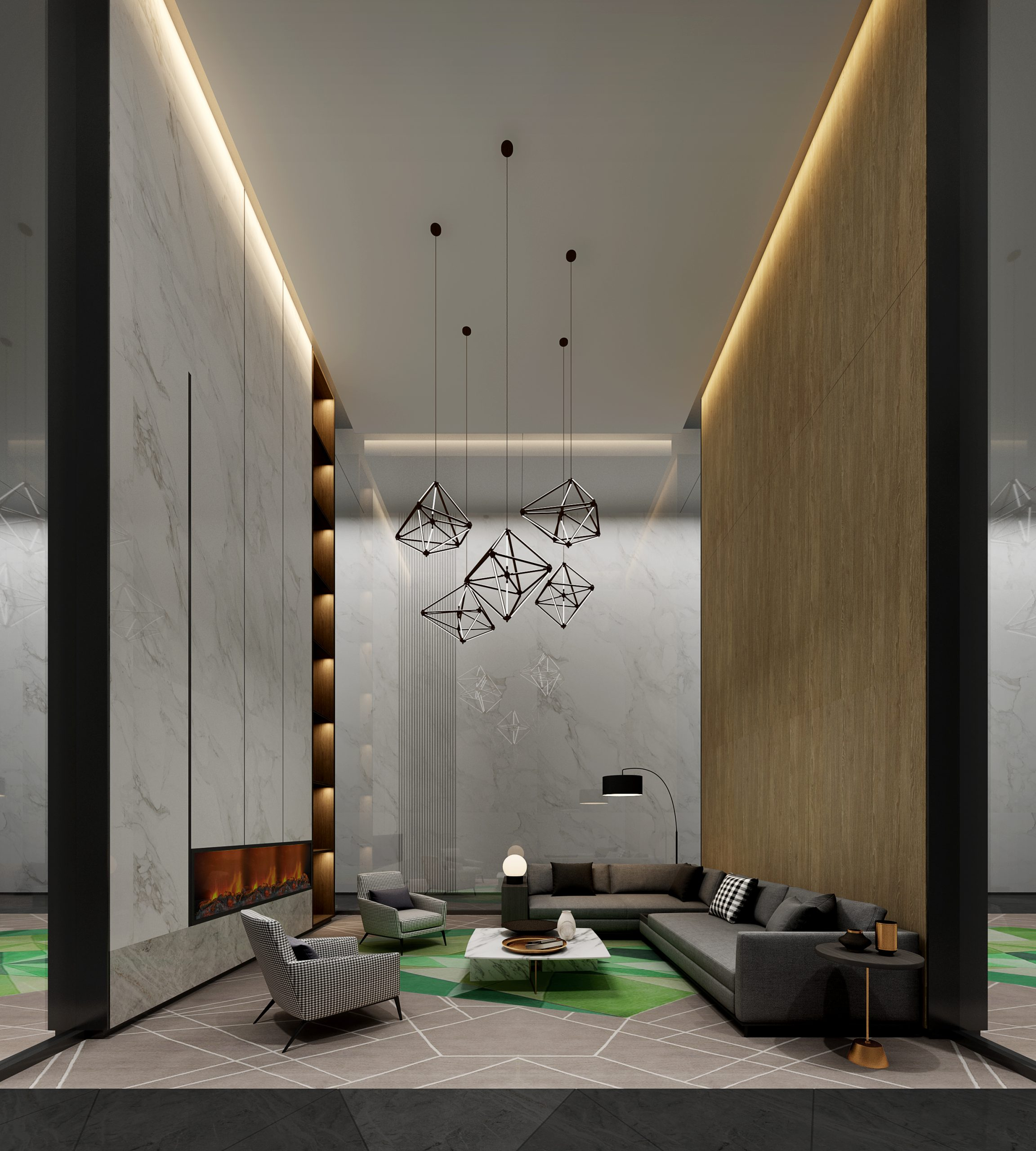 Impression of VIP reception room design renderings