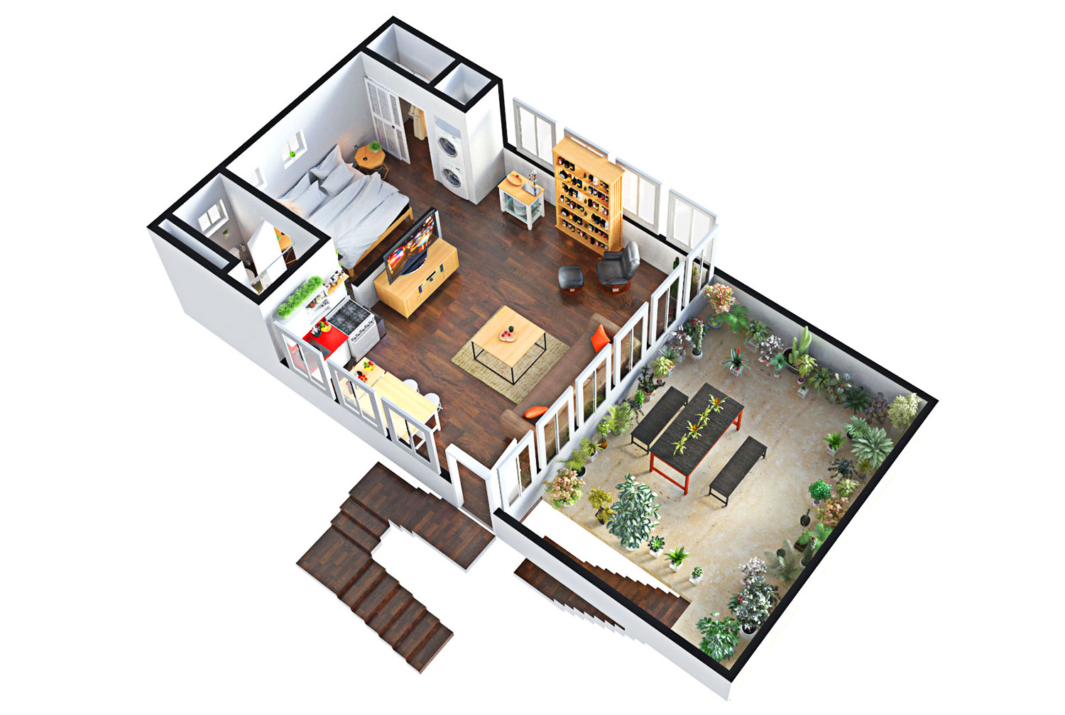 Architectural walkthrough: the true meaning of a 3d floor plan model