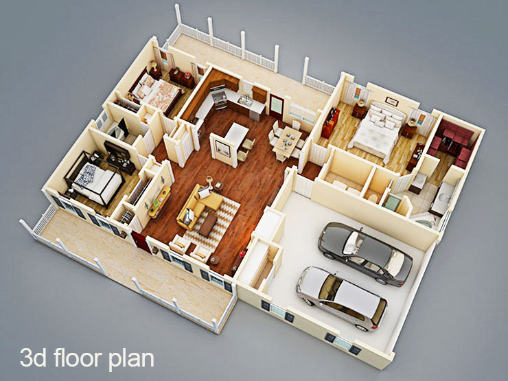 How to buy a realistic 3d apartment floor plan