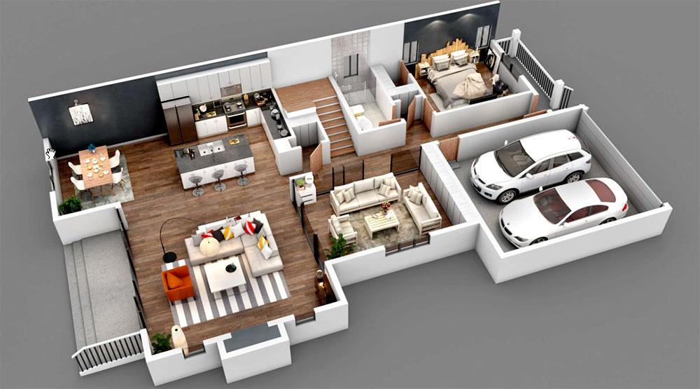 Floorplan marketing: real-time representation of future architecture