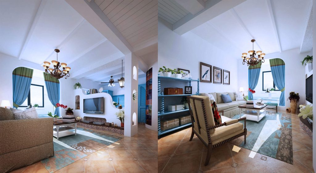 buy 3d interior renderings for mediterranian floor plans