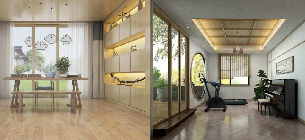 buy 3d interior renderings for room in Japan design