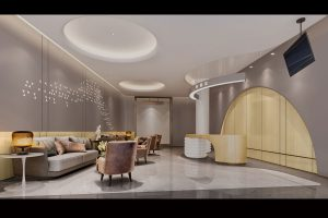 hospital lobby rendering