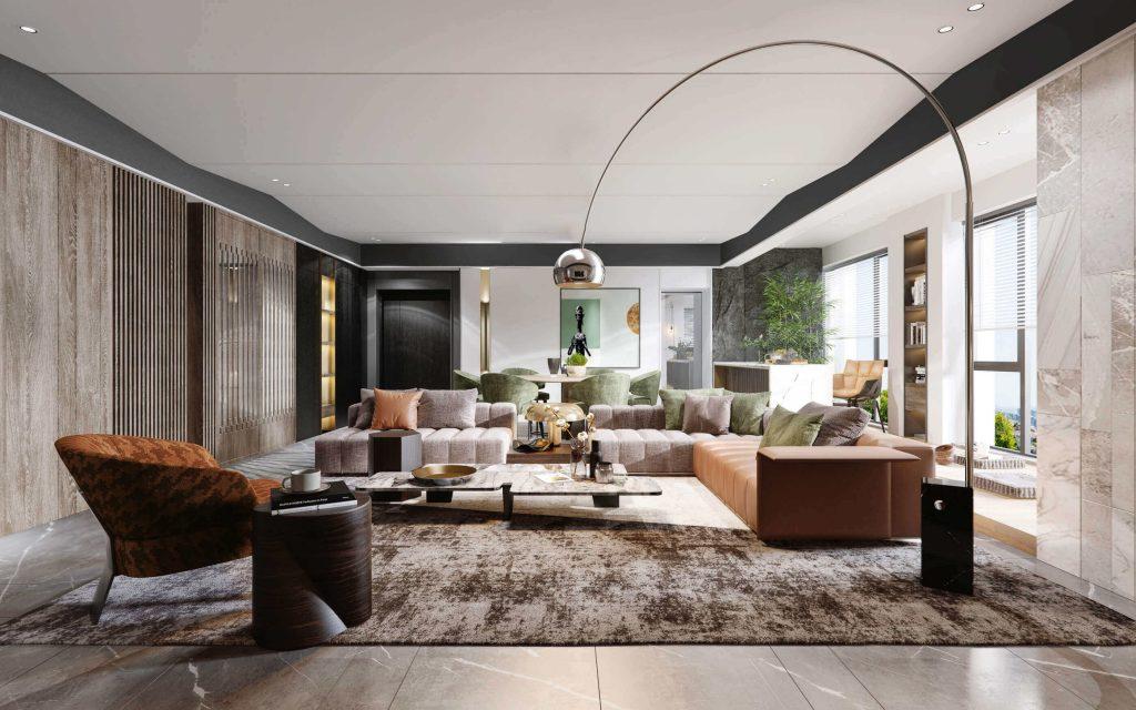 buy 3d interior renderings for Living room design idea