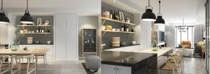 3d renderings for open kitchen
