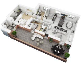 Best 3D floor plan generator: photorealistic rendering services