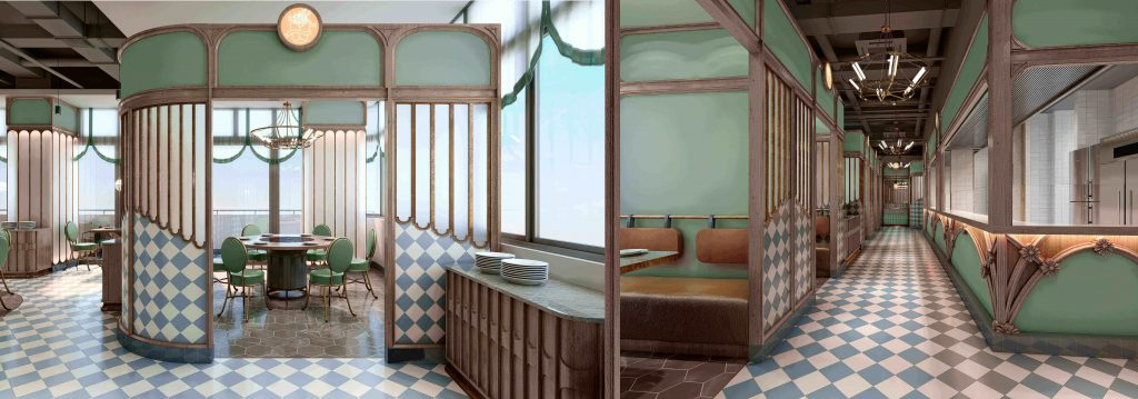 3d interior renderings for restaurant