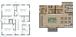 buy 3d interior renderings for simple floor plans