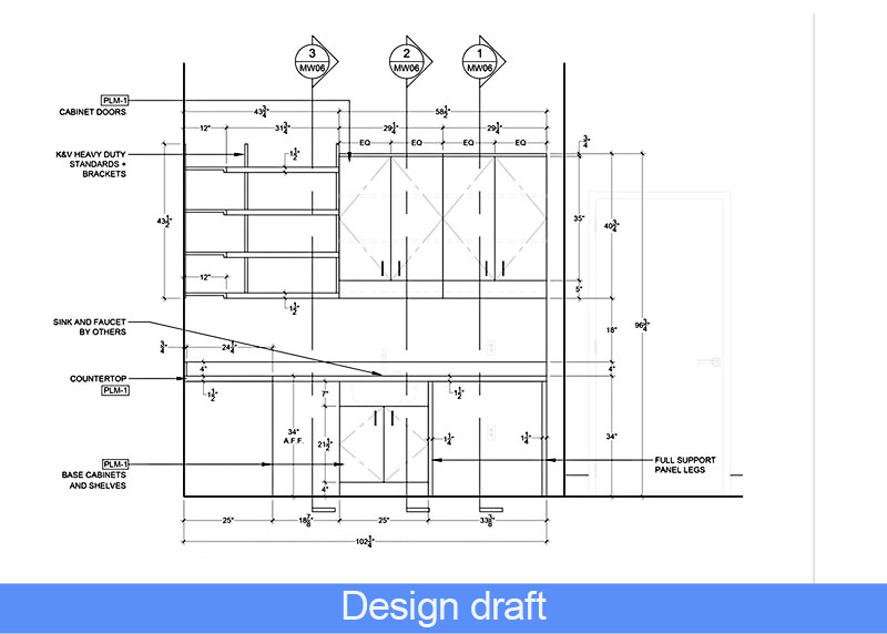 Design draft: Learn how to start designing an interior rendering