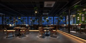 industrial chic restaurant design