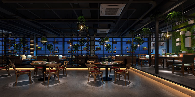 industrial chic restaurant design