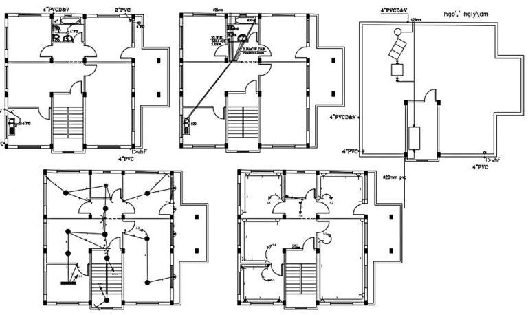 plumbing layout floor plan