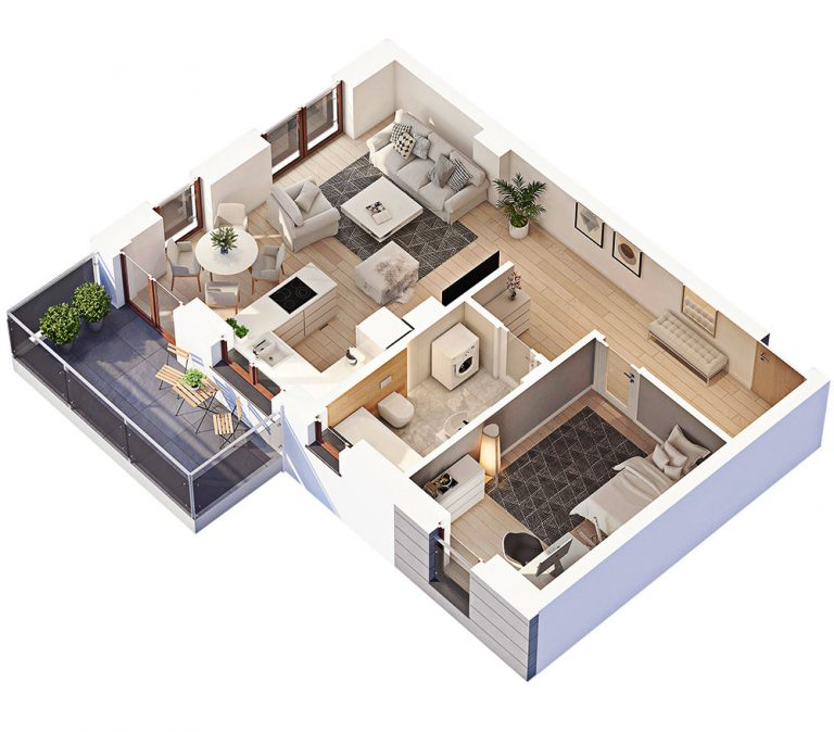 rendered floor plans