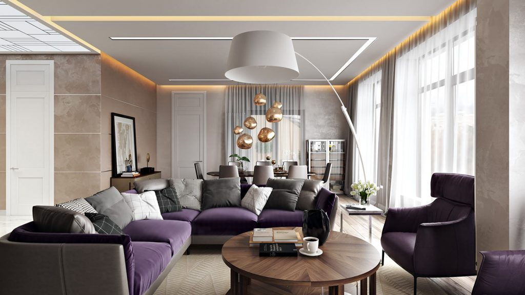 Apartment Interior Rendering