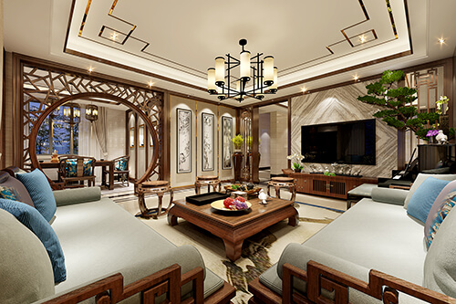 Chinese style interior design renderings, Different beauty!