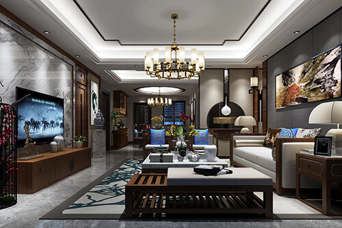 How to make the living room design light luxury delicate?