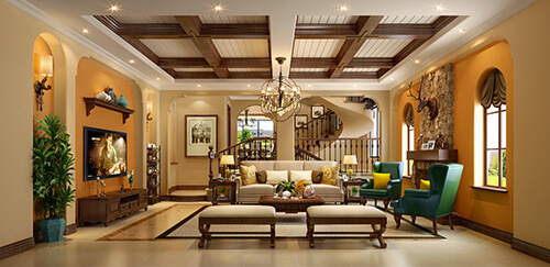 Is European-style living room design behind The Times? No!