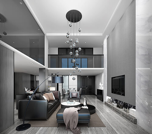 Simple living room rendering is current mainstream