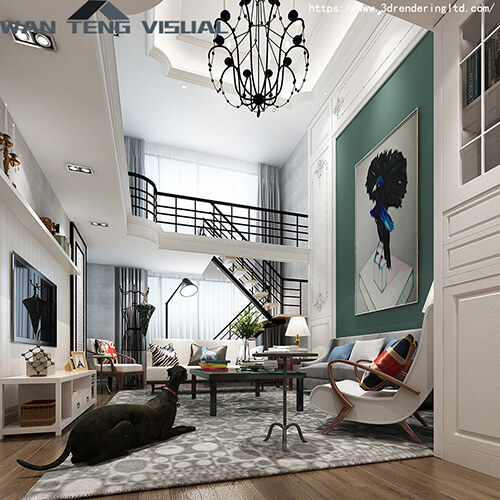 What is the impact of 3D interior rendering on interior design?