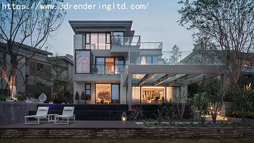 3D villa exterior rendering And 3D Rendering Services